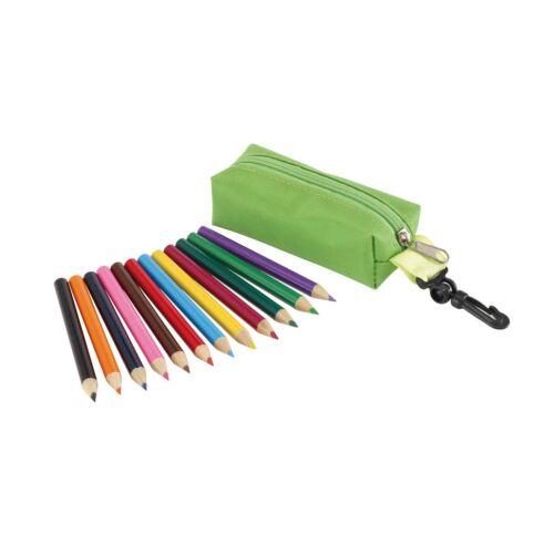 SMALL IDEA ceruza szett tokban, zöld