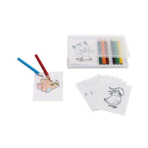 CRAZY ANIMAL színes ceruza készlet, színes