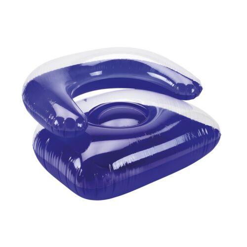 SEASIDE felfújható szék, átlátszó, kék