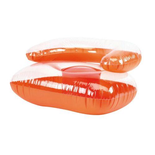 SEASIDE felfújható szék, átlátszó, narancssárga