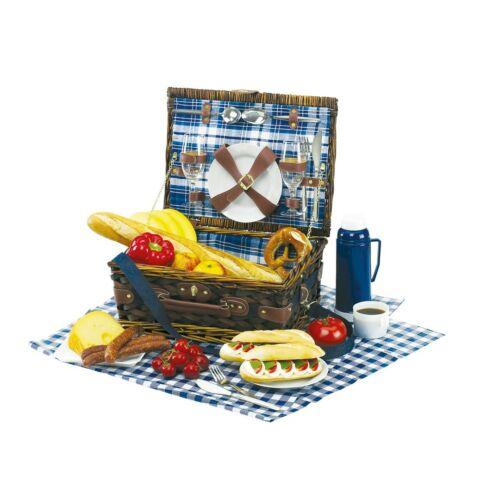 CENTRAL PARK piknik kosár, kék, fehér