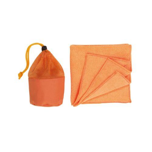 CLEANER mikro szálas törlőkendő, narancssárga