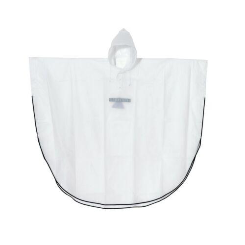 DRY AND SAVE esőköpeny fényvisszaverő csíkokkal, fehér