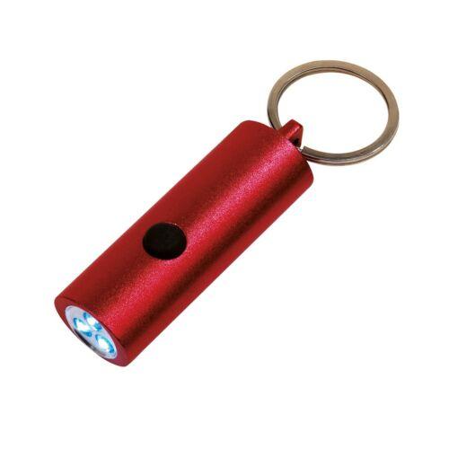 LITTLE LIGHTENING elemlámpa kulcstartóval, piros