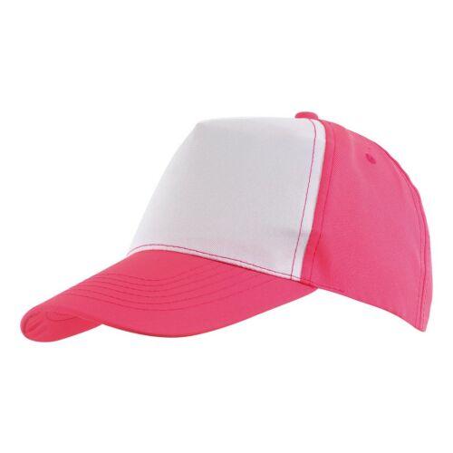 SHINY 5 paneles baseball sapka, pink, fehér