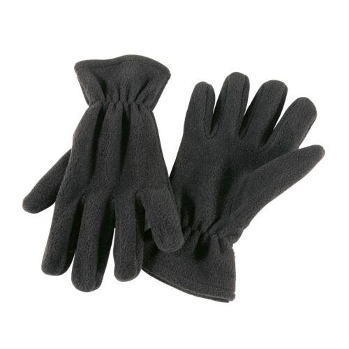 ANTARCTIC polár fleece kesztyű műanyag összekapcsolóval, fekete