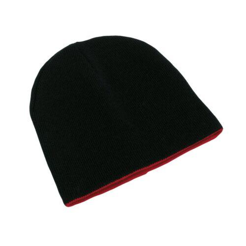 NORDIC kifordítható sapka, fekete, piros