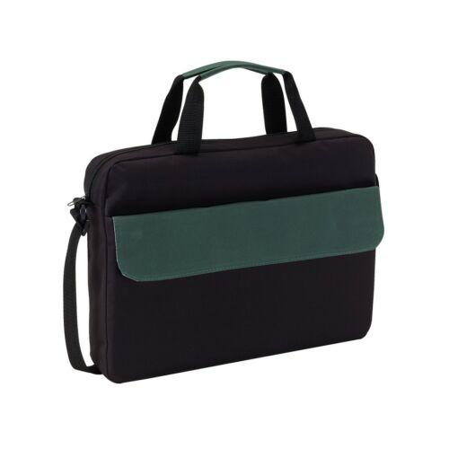BRISTOL konferencia táska, fekete, sötétzöld
