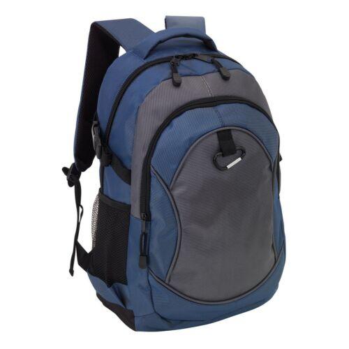 HIGH-CLASS hátizsák, kék, szürke