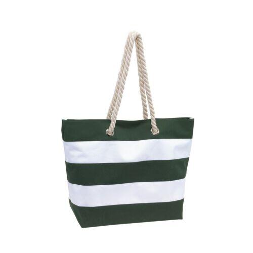 SYLT strandtáska, zöld, fehér