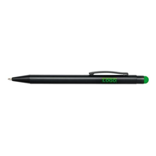 BLACK BEAUTY alumínium golyóstoll, fekete, zöld