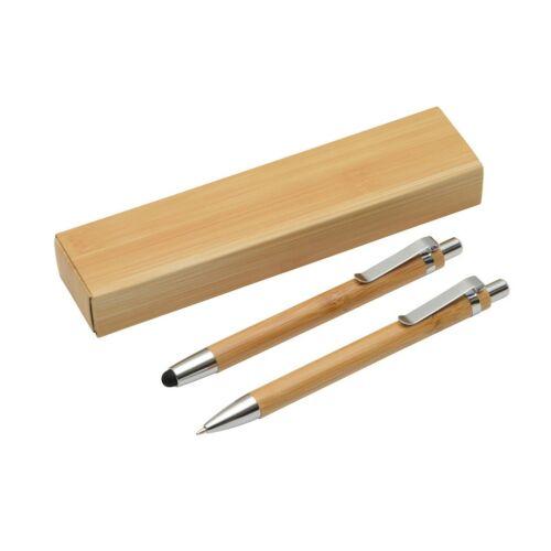 DOUBLE BAMBOO toll szett, barna, ezüst