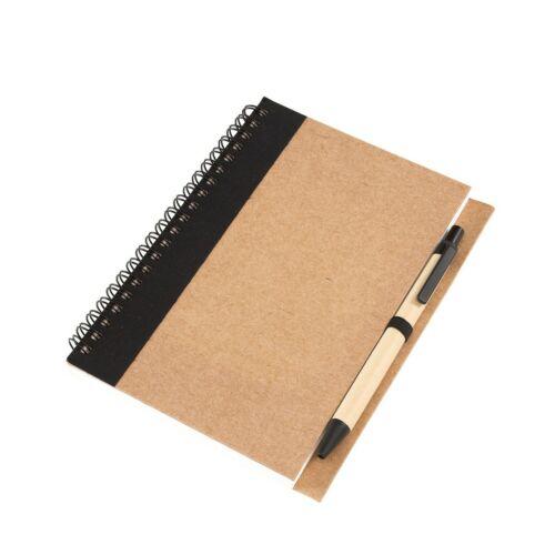 RECYCLE jegyzetfüzet, fekete
