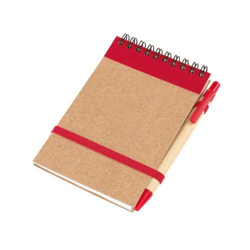RECYCLE jegyzetfüzet, vörös