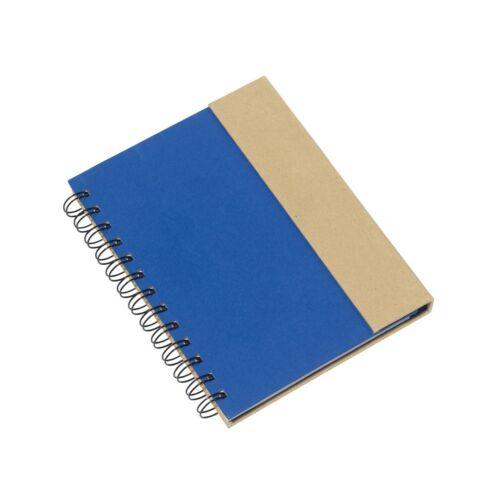 MAGNY újrahasznosított jegyzetfüzet, kék, natúr