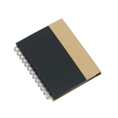 MAGNY újrahasznosított jegyzetfüzet, fekete, natúr