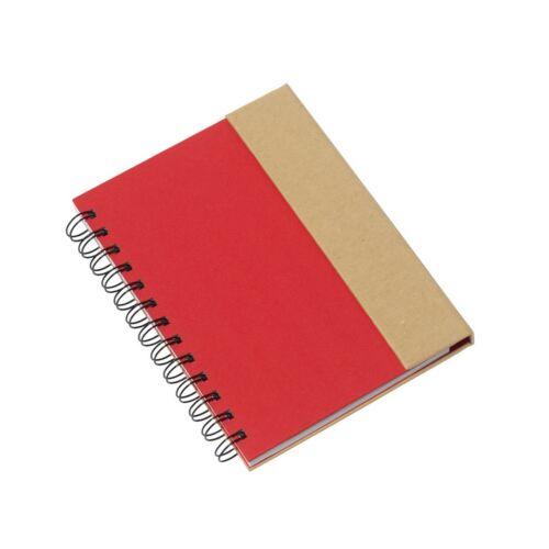 MAGNY újrahasznosított jegyzetfüzet, vörös, natúr
