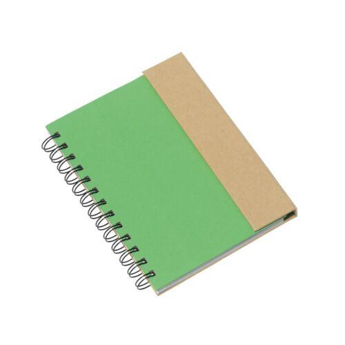 MAGNY újrahasznosított jegyzetfüzet, zöld, natúr