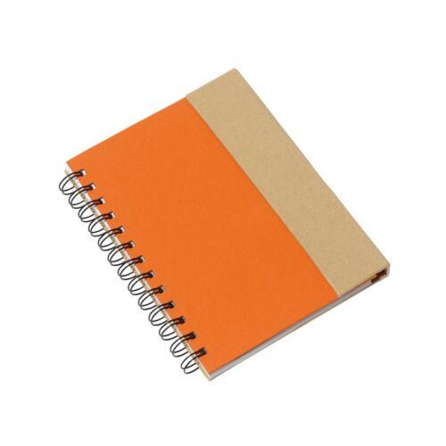 MAGNY újrahasznosított jegyzetfüzet, narancs, natúr