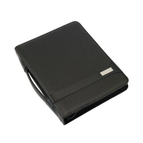 HILL DALE gyűrűs cipzáras mappa, DIN A4 méret, fekete