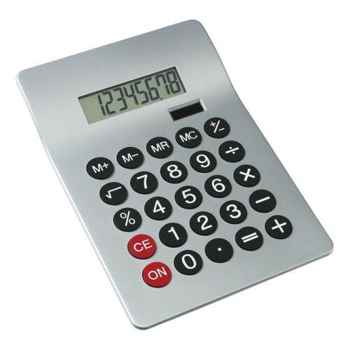 GLOSSY 8 számjegyes számológép, ezüst