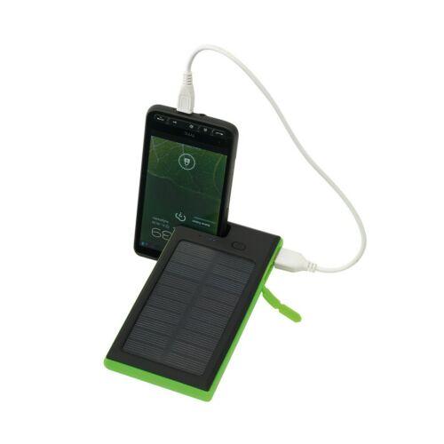 HELIOS powerbank, hordozható töltő, fekete, zöld