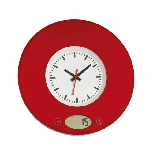 TIME digitális konyhai mérleg, vörös