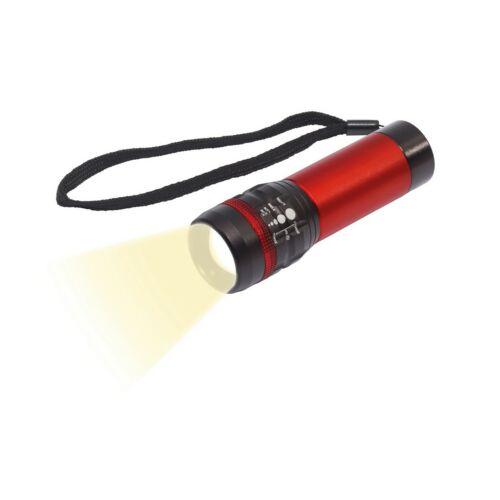 ZOOM LED elemlámpa, vörös, fekete