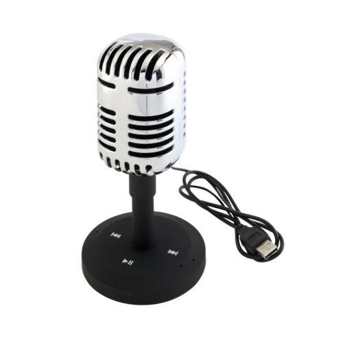 MICROPHONE bluetooth hangszóró retro stílusban, fekete