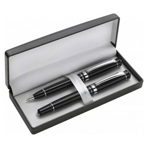 Alumínium tollkészlet, fekete tollbetéttel, fekete