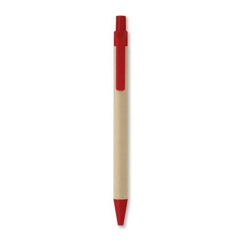CARTOON Papír/kukorica PLA golyóstoll, piros