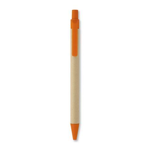 CARTOON Papír/kukorica PLA golyóstoll, narancssárga