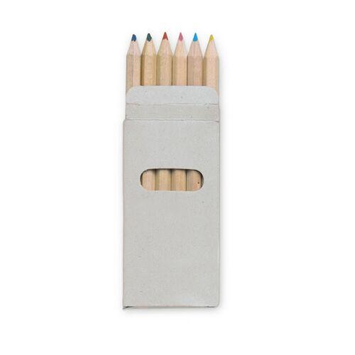 ABIGAIL 6 színes ceruza kartondobozban , többszínű