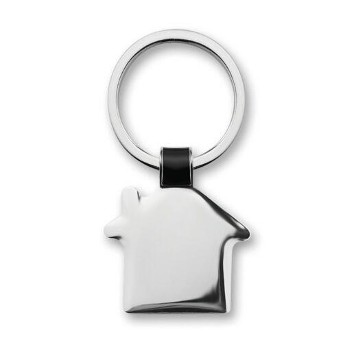 HOUSY Ház alakú kulcstartó, fekete