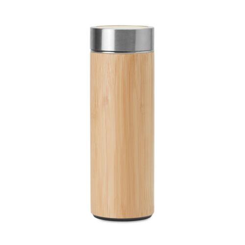 BATUMI Duplafalú acél/bambusz termosz , fa