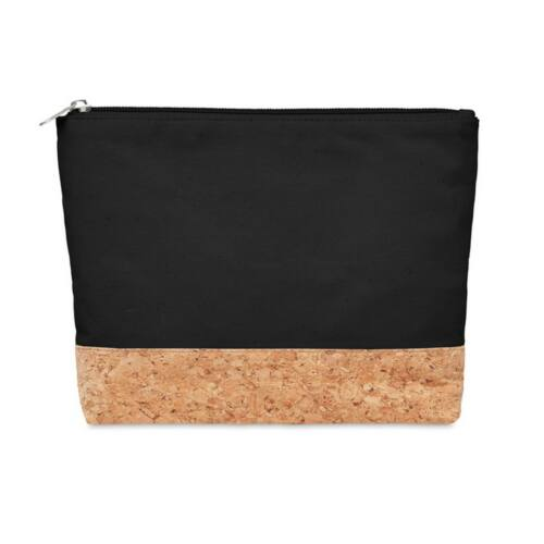 PORTO BAG Parafa & pamut kozmetika táska , fekete