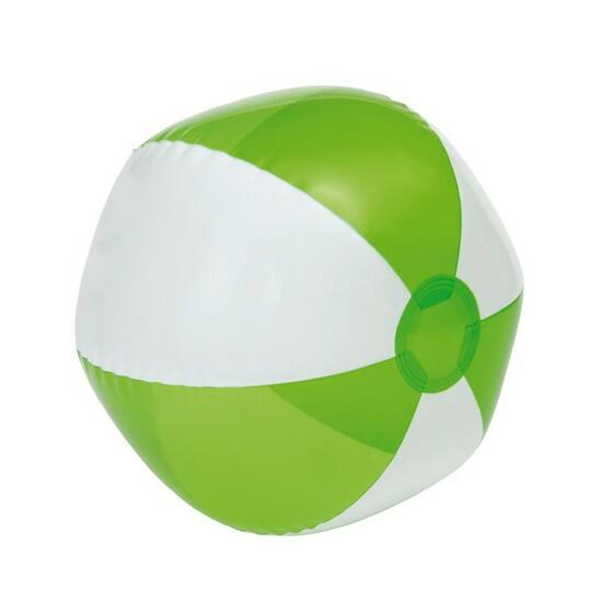 OCEAN strandlabda, fehér, átlátszó zöld