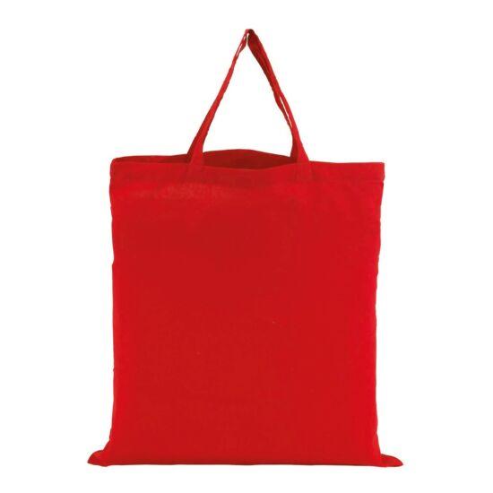 PURE rövid fülű pamutszatyor, vörös, 1 színnel emblémázva