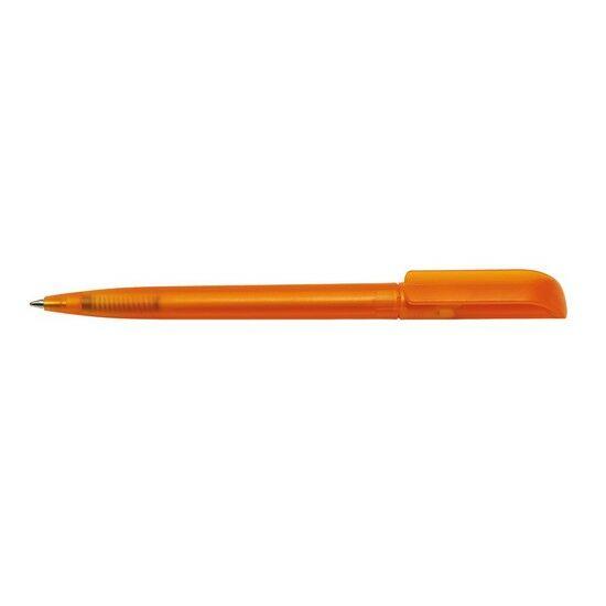 RETRO áttetsző golyóstoll, átlátszó narancs