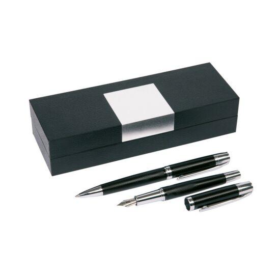 MANZONI toll szett, fekete, ezüst