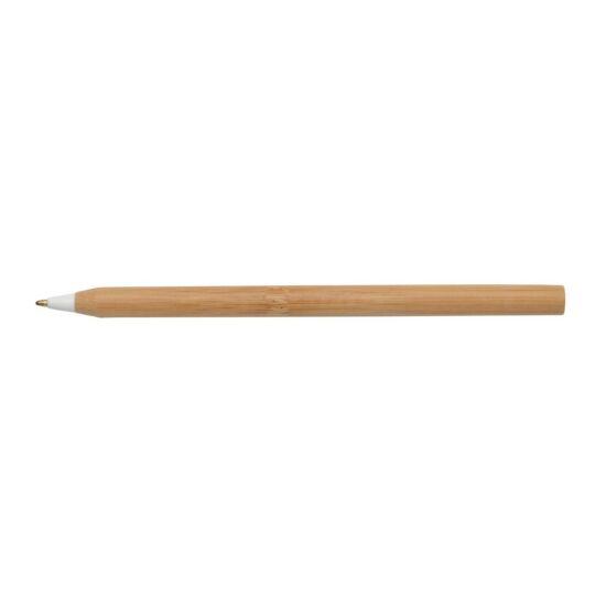 ESSENTIAL bambusz golyóstoll, barna, fehér