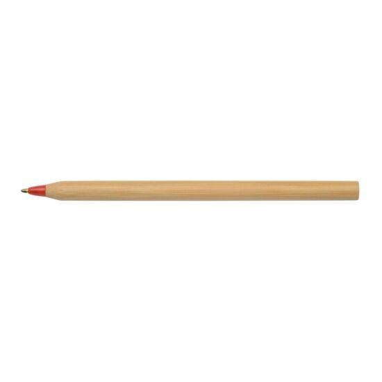 ESSENTIAL bambusz golyóstoll, barna, piros