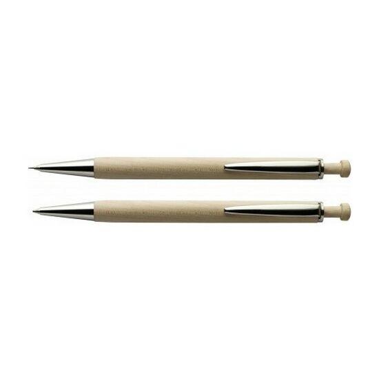 Juharfa tollkészlet fadobozban, kék tollbetéttel