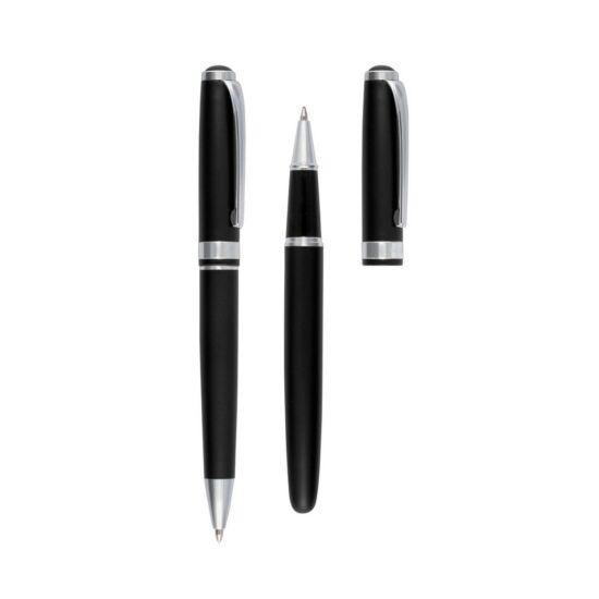SKRIPTUS toll szett, fekete, ezüst