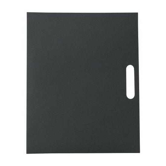 Karton mappa tollal és jegyzettömbbel, kék tollbetéttel, fekete